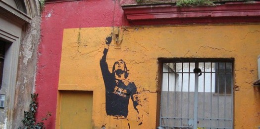 Roma, Rione Monti. Murale dedicato al Capitano