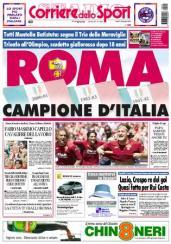 Prima pagina del Corriere dello Sport del 18 giugno 2001