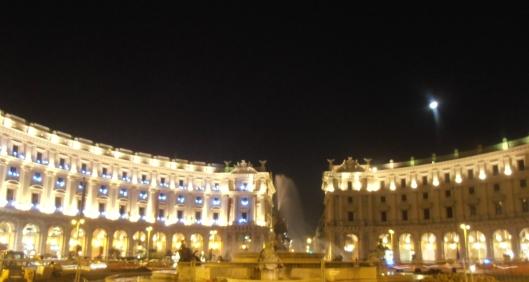 Roma, Piazza della Repubblica, 18 dicembre 2015